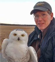 Scott Weidensaul with Owl